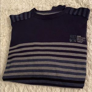 Navy Crew Co. Striped 100% Cotton Sweater